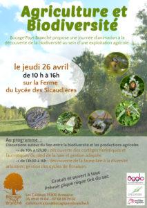 Journée Biodiversité en Agriculture @ LEGTA les Sicaudières | Bressuire | Nouvelle-Aquitaine | France
